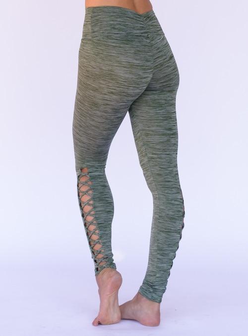 c9f685e9a2f93 ... Workout Bottoms/Corset Legging Pant – Space Dye Green. ; 