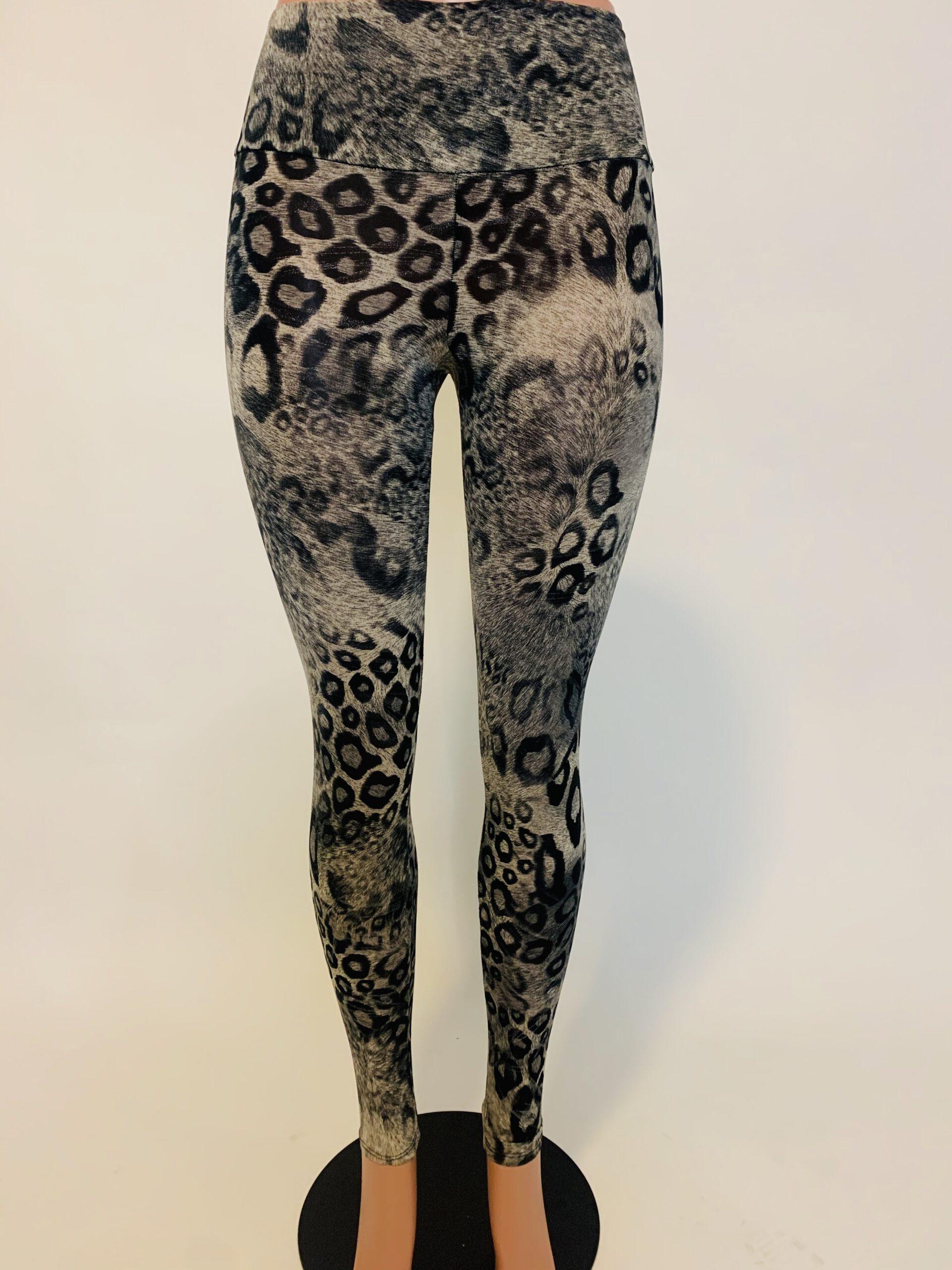 Black Leopard Pant