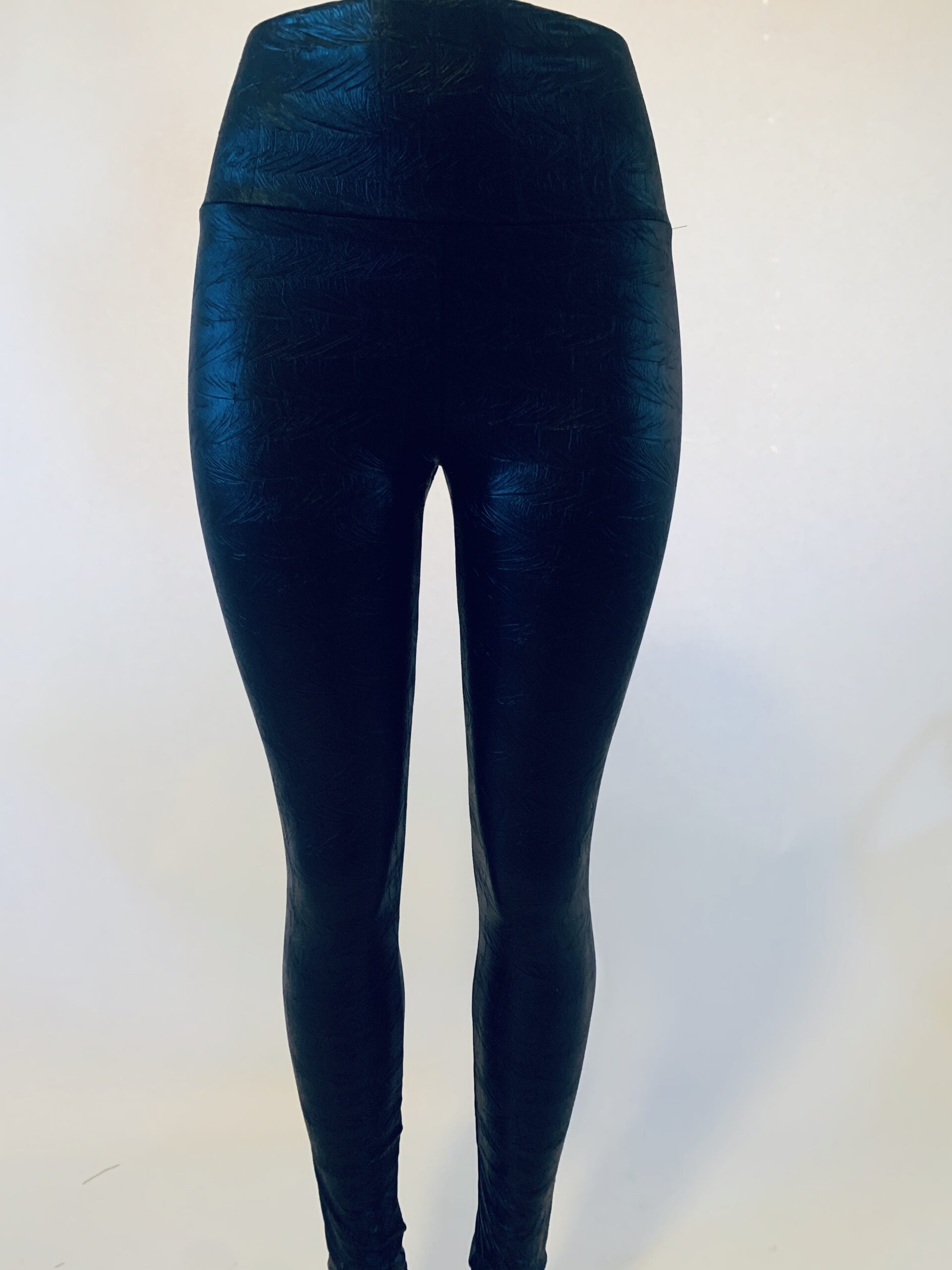 Black Pleather High-Waisted Legging