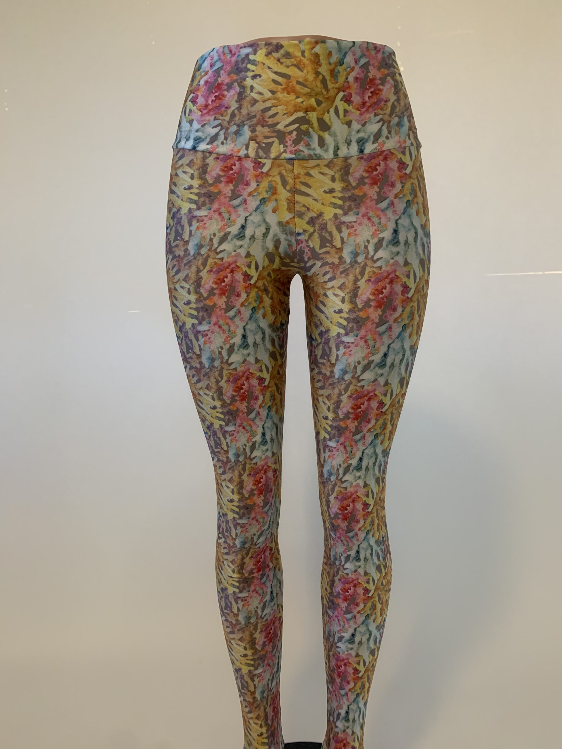 Coral High-Waisted Legging
