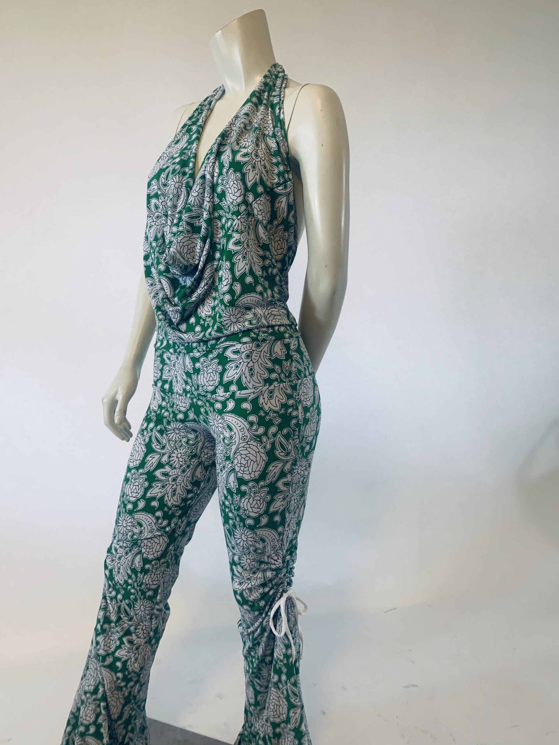 Printed Green Jumpsuit